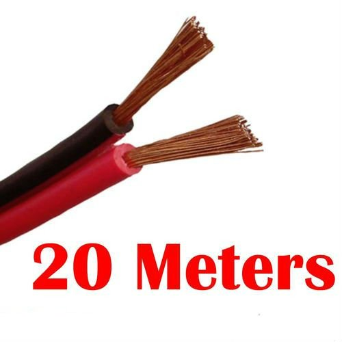 20M Red/Black Speaker Cable Wire Car Home Stereo Meter 14/0.2mm Audio figure 8