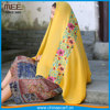 soft gauze cotton voile shawls muslim viscose fabric embroidered scarf