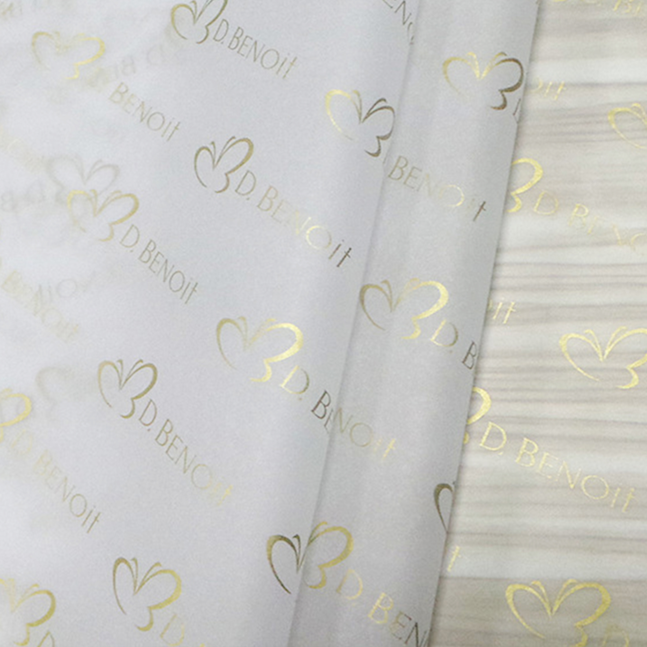 Popular custom printed logo gold gift tissue paper/ Moisture Proof wrapping paper/packaging paper