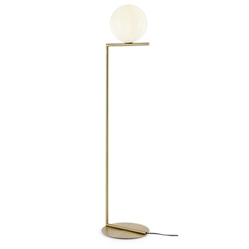 Nordic Design Metal Decorative Gold Glass Ball Standing Floor Lamp