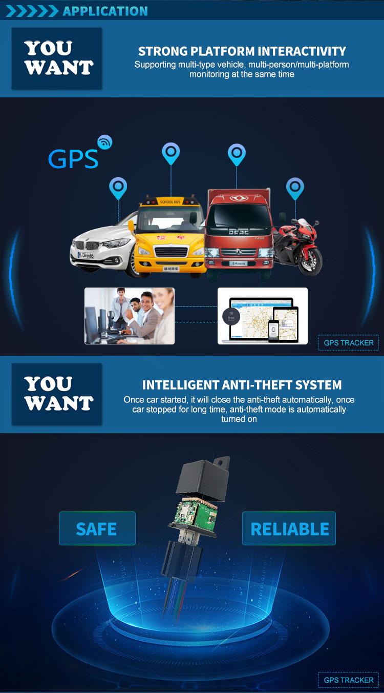 CJ720 mini relay tracking device remote control anti-theft cut off oil power system locator car auto vehicles gps tracker