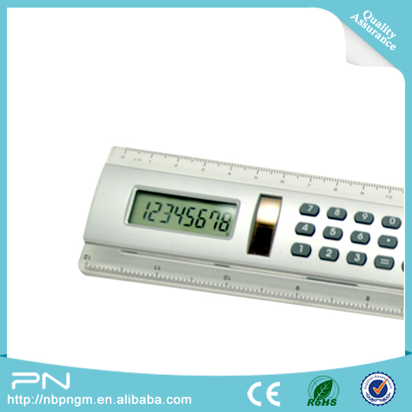 Hot Sale  Plastic 30 cm Straight Student Ruler With Calculator 8 bit