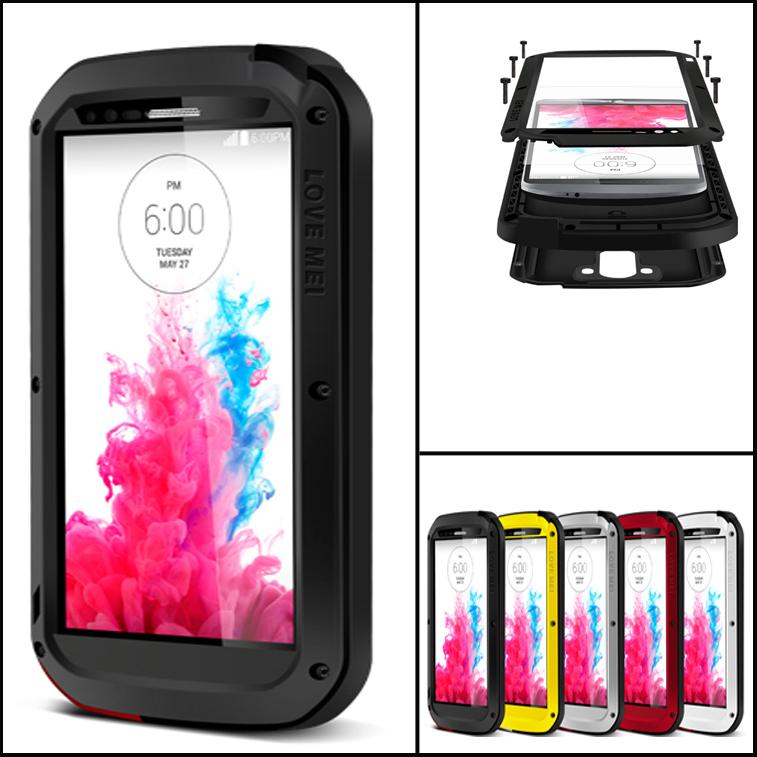 G3 Waterproof Case Aluminum + Silicon For LG G3 Gorilla ...