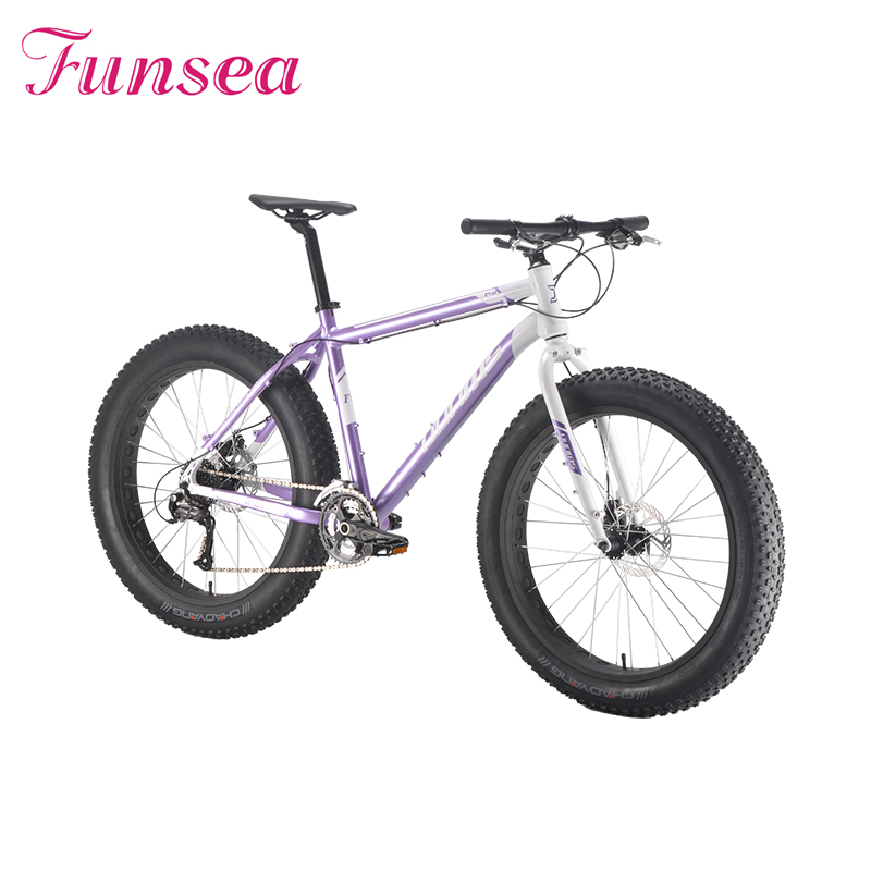 Alloy frame factory wholesale fat tire bicycle 26 inches wheel size fat snow bike  from china fatbike manufacturer Funsea