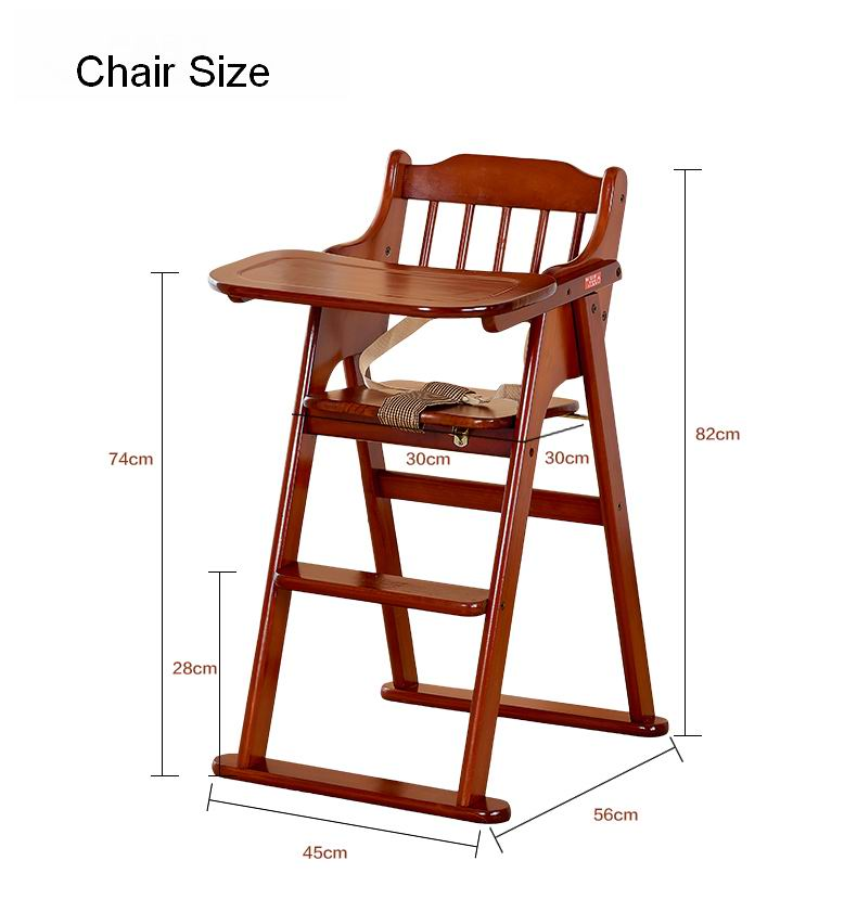 China Brand Hope Baby High Chair Type Solid Wooden Dining With Demountable Tray