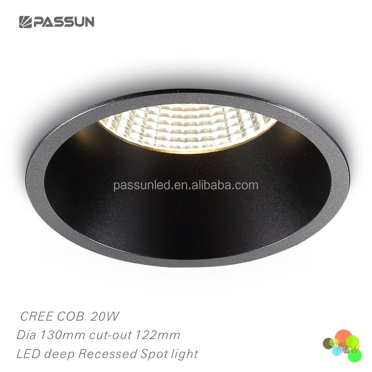20w black cob led spotlight recessed led light downlight view led 20w black cob led spotlight recessed led light downlight view led downlight 20w passun product details from zhongshan passun lighting factory on alibaba aloadofball Image collections