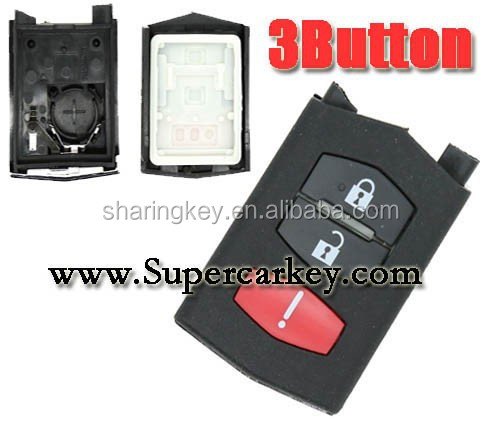 High quality 2+1 Button Remote control shell for Mazda