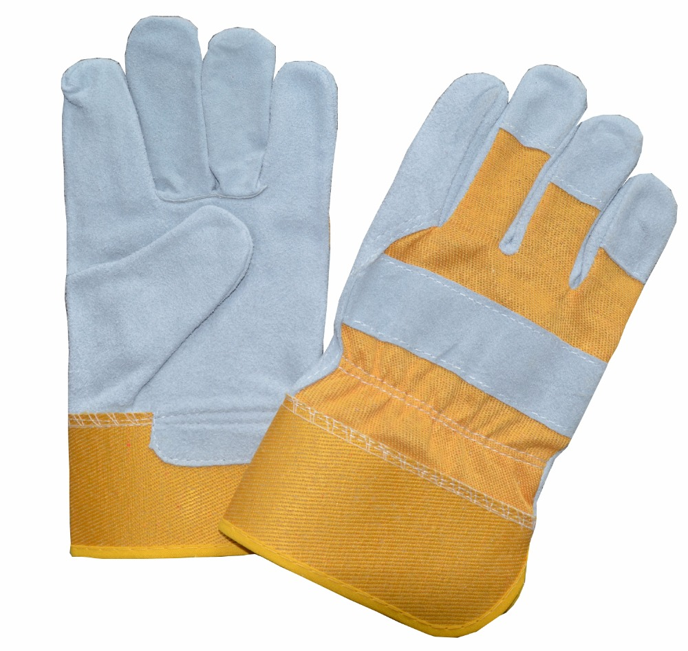 LUJIANG 10.5'' high quality hot sale own factory cow split leather soft skin leather gloves