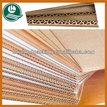 Corrugated cardboard paper sheet