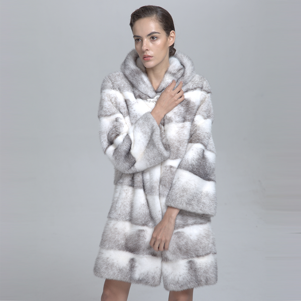 Elegant Women Natural White Mink Fur Coat - Buy Natural Mink Coat ...