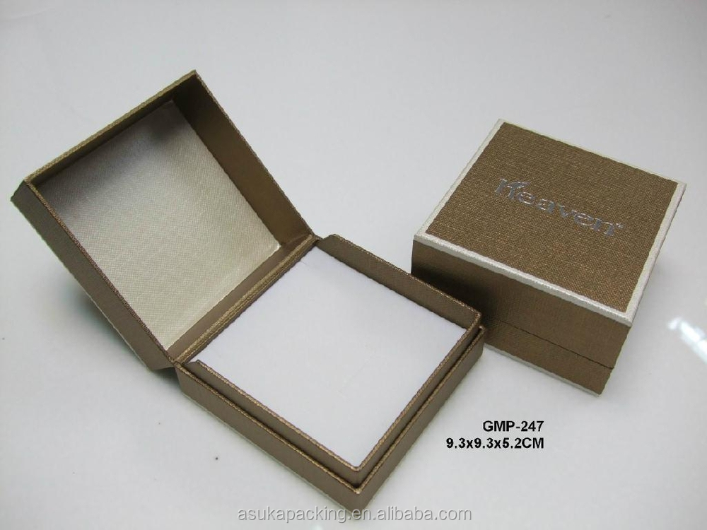 Square Kraft Black Recycled Jewellery BoxesJewellery Box Design
