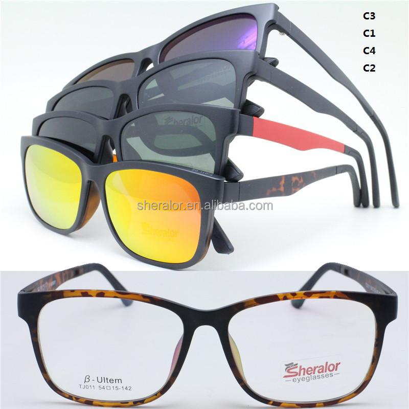 Gota ventas completo ultem óptico gafas marco magnético clip en ...