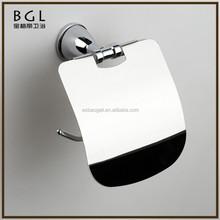 Latest Styles & Innovations Zinc alloy Polished chrome Bathroom Hardware Wall mounted Tissue paper holder with cover