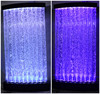 Home hotel decoration Color changing waterfall wall LED light acrylic water bubble tube