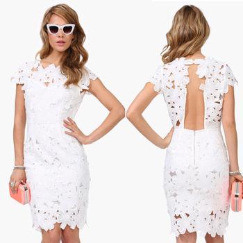 Crochê Branco Vestido Bodycon Rendas Fantasia Vestido Para As Mulheres Vestido Midi Buy Vestido De Rendavestido Bodyconvestido Midi Product On