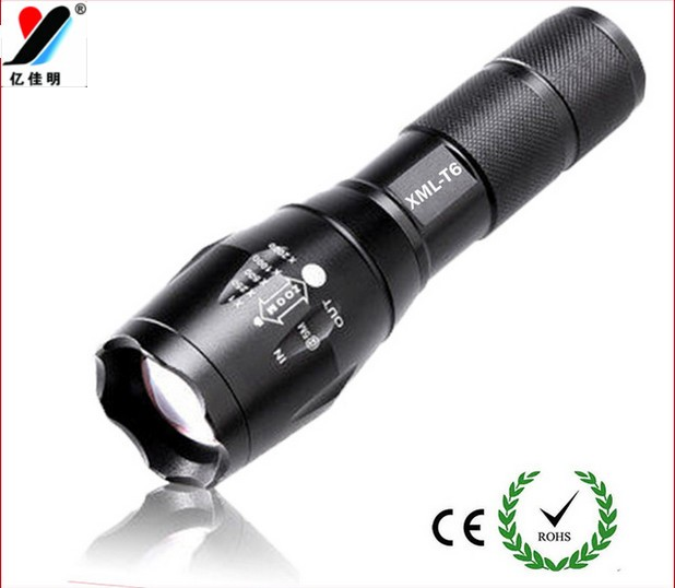 Flashlight,Military Grade Flashlight with 5Light Modes,Water Resistant Flashlight Lamp Torch T6 18650 Moving Lamp YJM-G700