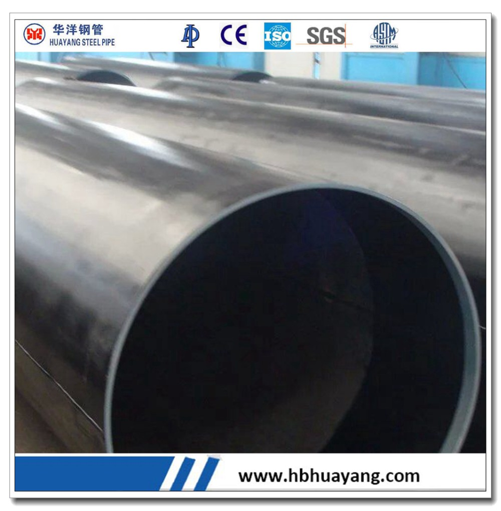 LSAW welded black round carbon steel pipe tube