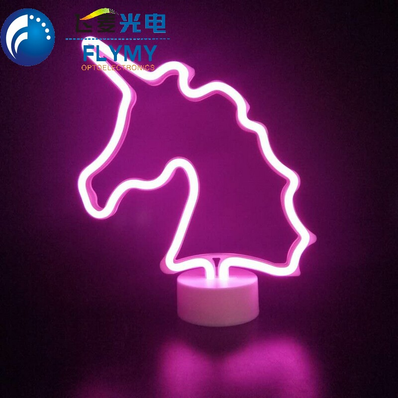 Table Night Light Neon Light Signs Battery Operated Neon Night Light Lamps for Halloween, Thanksgiving, Christmas decor