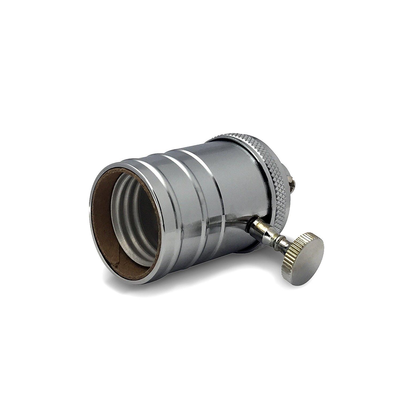 emark Vintage Light Socket Edison Pendant Lamp in Chrome with On//Off Knob E26//E27 Solid Brass Industrial Light Socket 1 pack