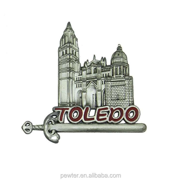 metal toledo fridge magnet