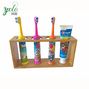 Living room or bathroom 4-Slot Electric bamboo toothbrush holder