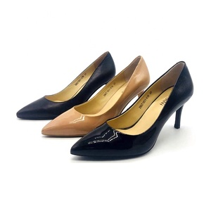 black womens shoes high heel ladies soft patent leather shoes made in china