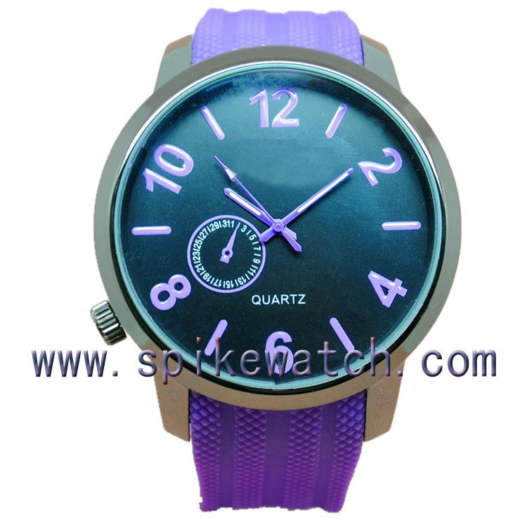 Fashion wristwatch design silicone band wrist watches chinese numbers