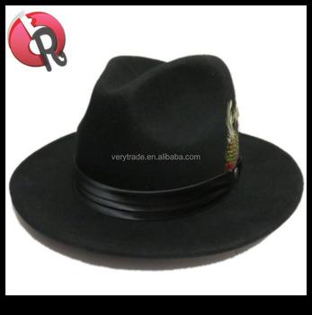 Black Oktoberfest Bavarian German Alpine hat wool felt mountain fedora hat b1823f8ab19