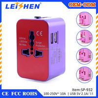 CE ROHS FCC Active Usb Universal Travel Adapter With Usb Charger For IPHONE