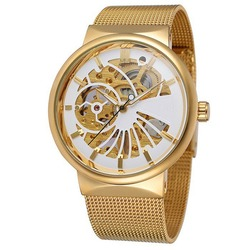 Golden Man Stainless Steel Watches Men Luxury Brand Automatic Mechanical Watch