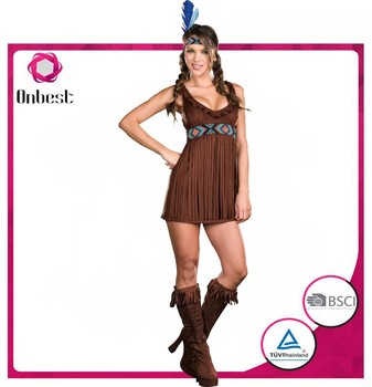 Simple Design Native American Costume Indian Costume For Adult