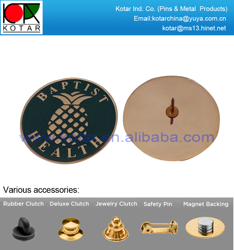 Custom gold plating brass photo etched process lapel pin