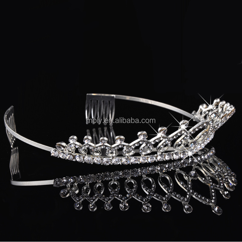 High Quality Shining Crystals Wedding Crowns with Rhinestone Bridal Veil Tiaras Crowns Hair Accessories For Party and Wedding Oc