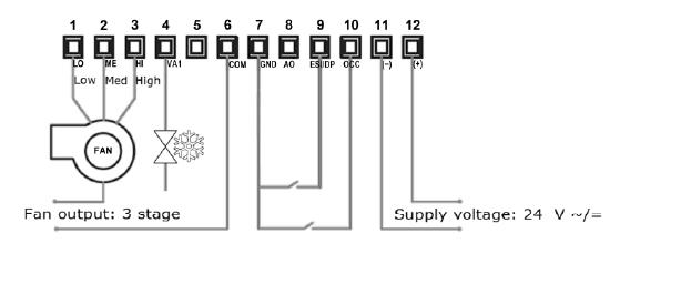 Bandary Hotel Keycard 0-10 V Modulation Raumthermostat - Buy 24vac ...