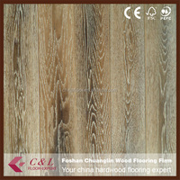 Foshan supplier best quality smoked solid oak wood flooring