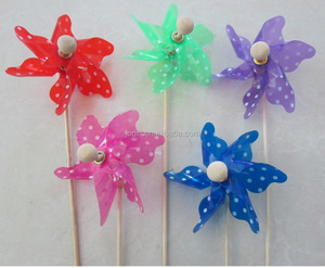 Fashion Mini Toothpick Plastic Windmill