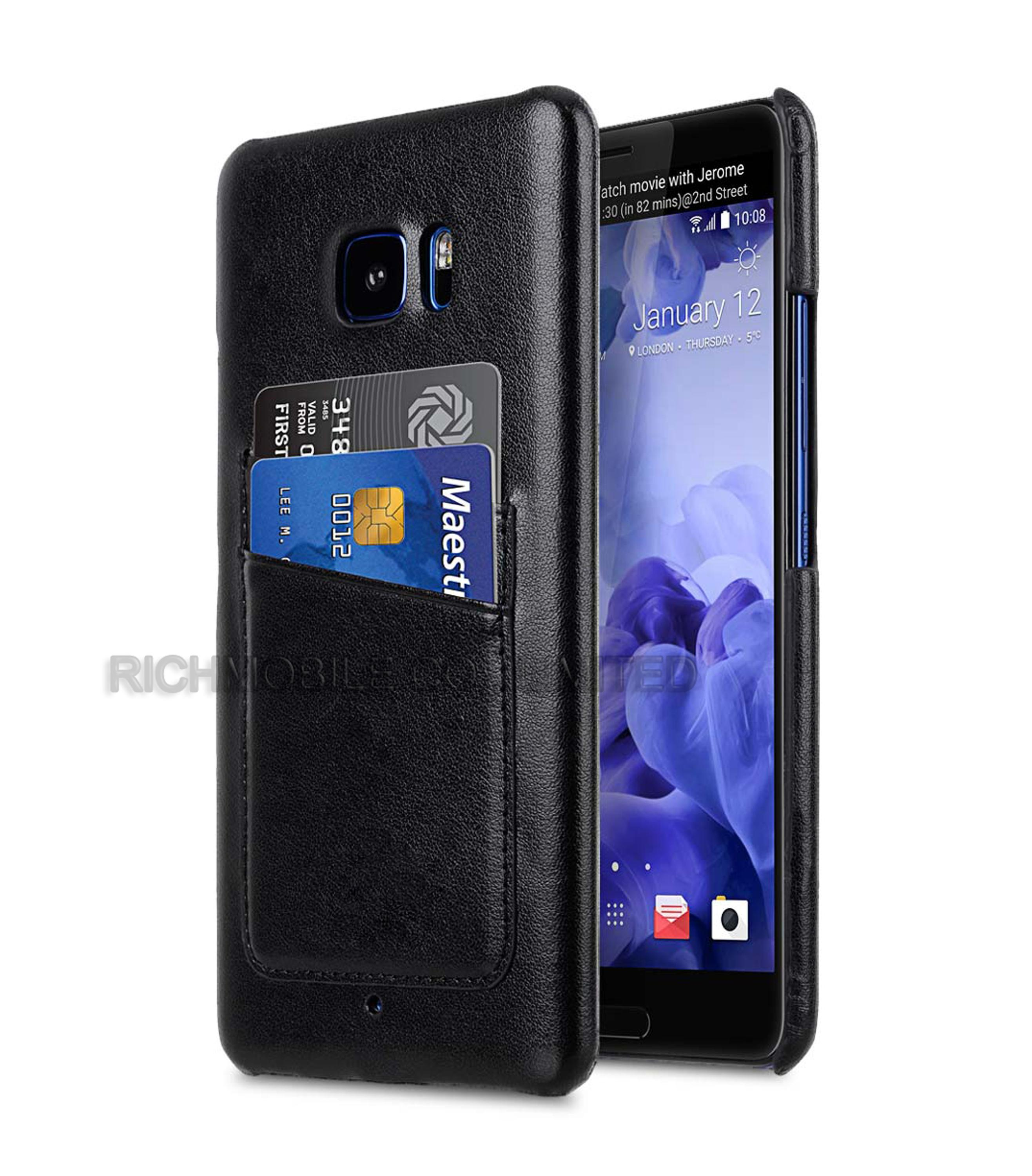 for HTC U Ultra Premium Leather Snap Case Cover With Card slots
