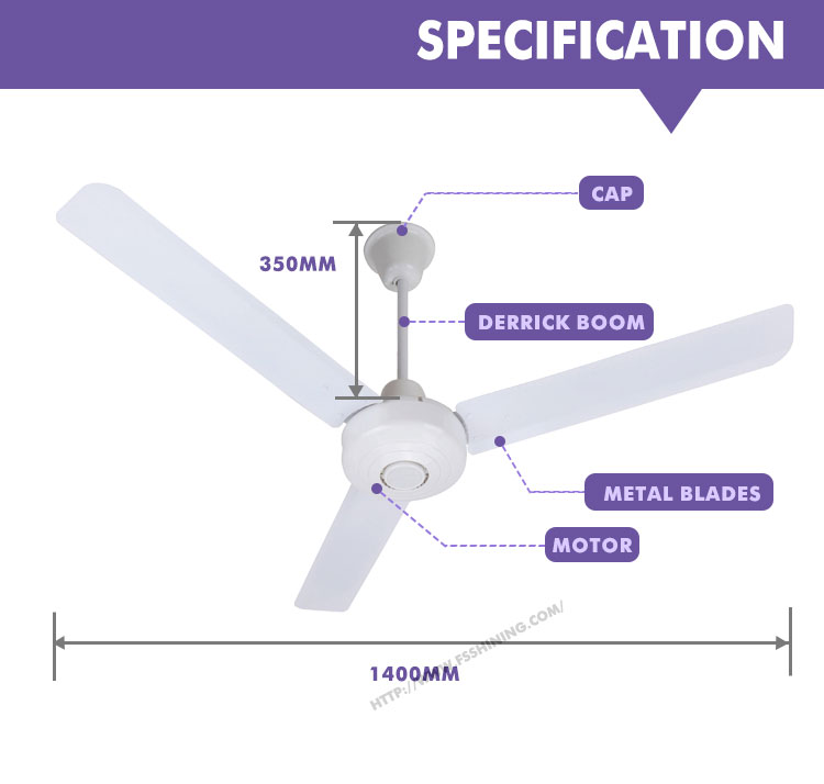 China supplier direct current ce extra large ceiling fan