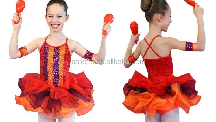 b300d0099 Mb1059 Red Glitter Confetti Teen Girl Sequin Ballet Dance Costume ...