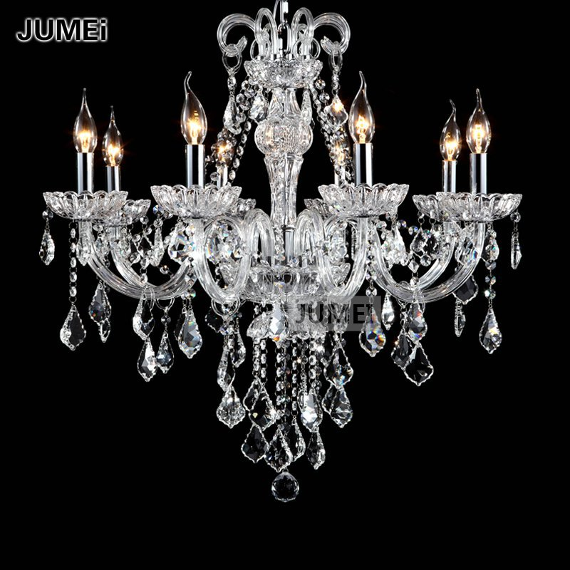 Glass Chandeliers For Dining Room: Traditional-Clear-Glass-8-Lights-Crystal-Chandelier