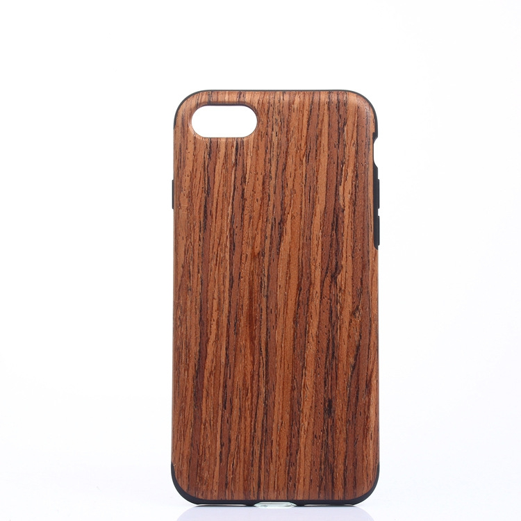C548 Top Sale High Quality Real Wood TPU 2 In 1 Phone Cover For Iphone 7 Silicone Case