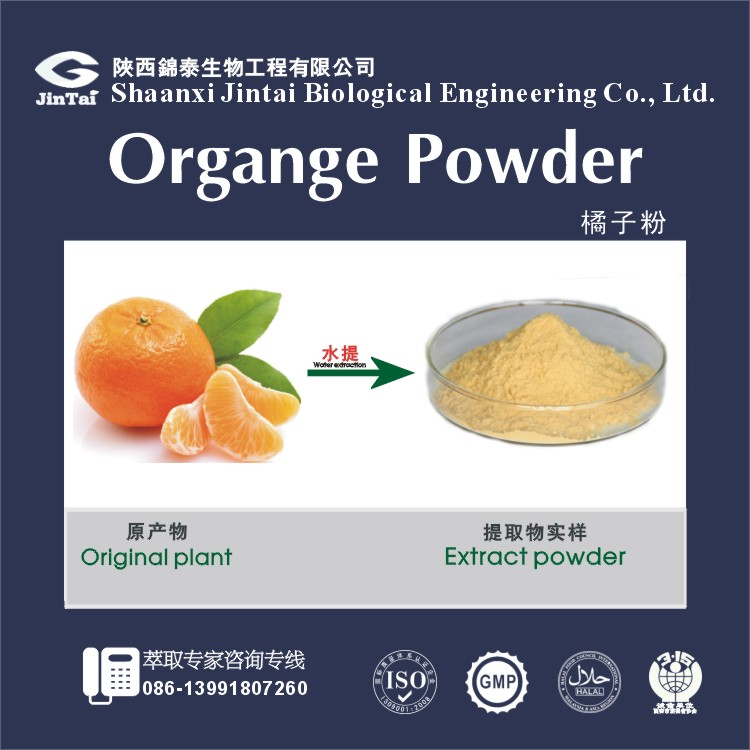 high quality orange flavor powder
