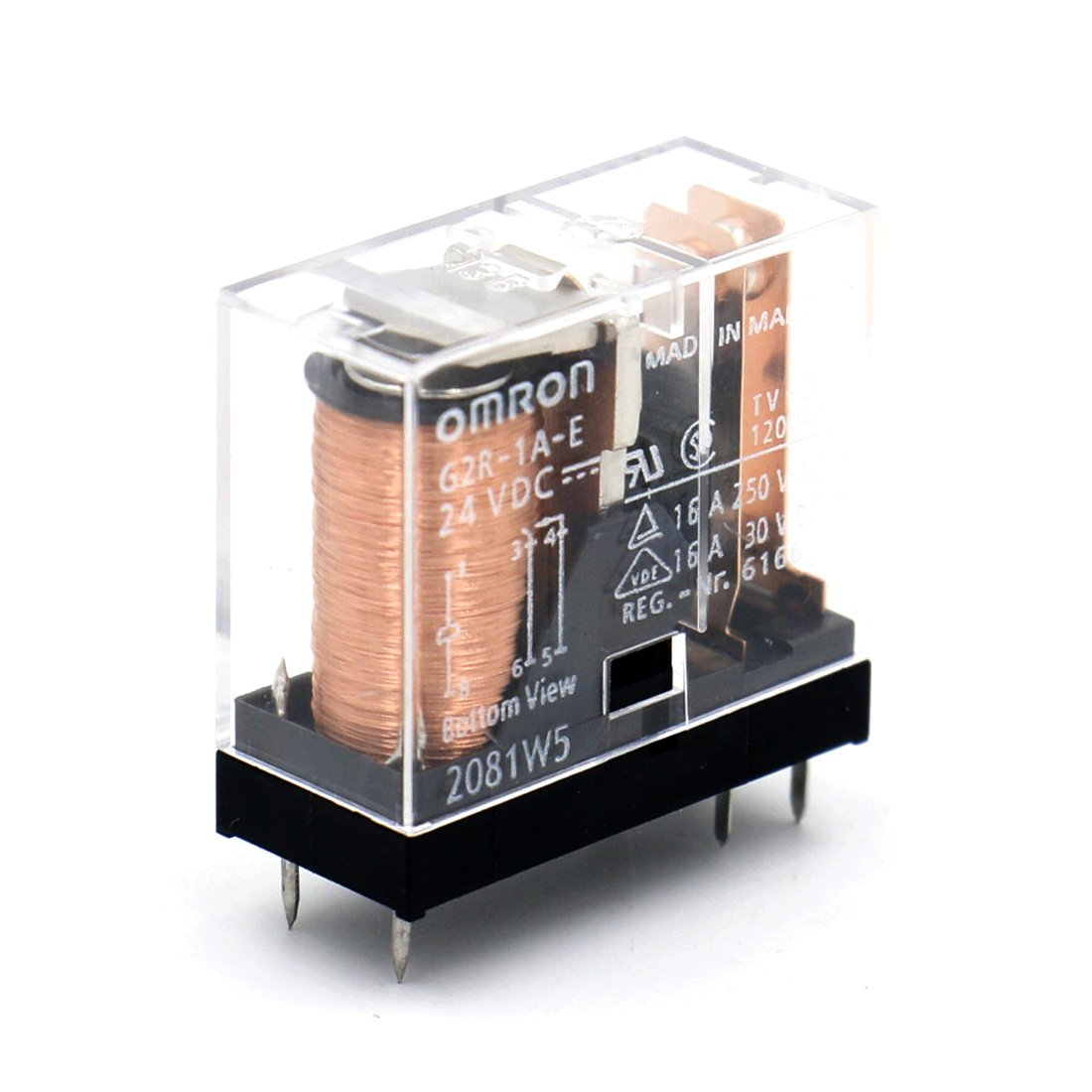 OMRON ELECTRONIC COMPONENTS G2R-1A-E-DC24 POWER RELAY SPST-NO 24VDC, 16A, PC BOARD