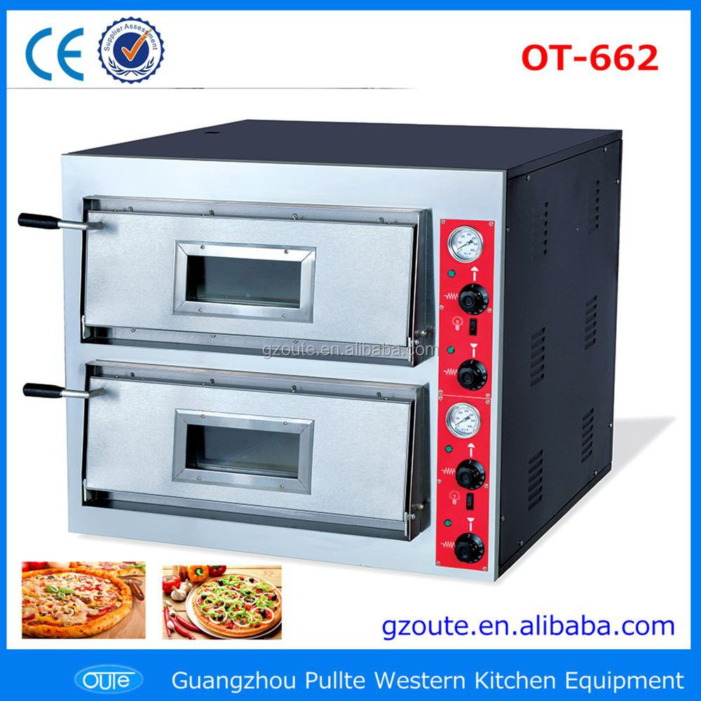 Commercial Catering Equipment 2 Decks Electric Pizza Oven Sale