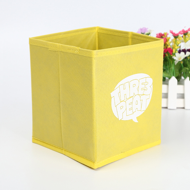 Custom nonwoven small foldable fabric toy storage box with cardboard