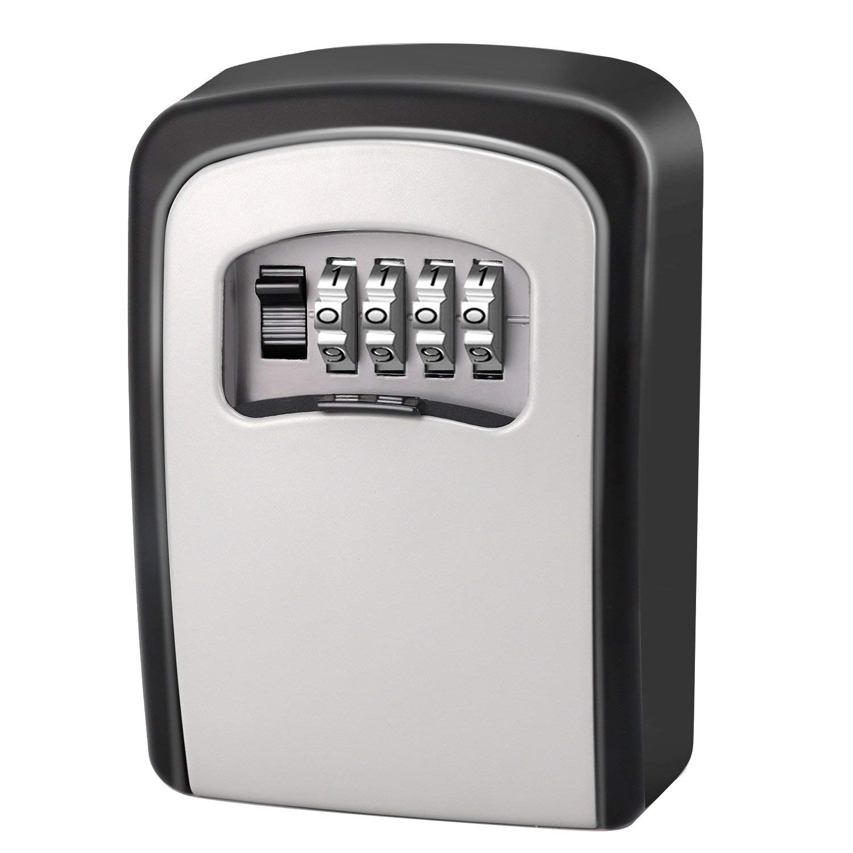 Combination Lock Box Key Storage Lock Box 4-digit Combination Lock Waterproof Indoor/outdoor Crease-Resistance Kleidung & Accessoires