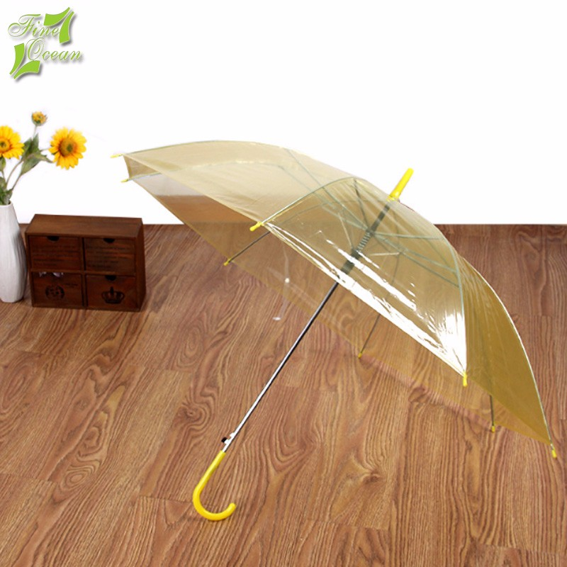 wholesale cheap poe clear umbrella disposable transparent umbrella