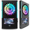 Electronic Coin-Operated Dart Game Machine with Dynamic LED Backlight for Internetl Online Match VDarts Mini Plus