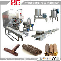 HG food machinery group automatic cream filling egg roll wafer machine