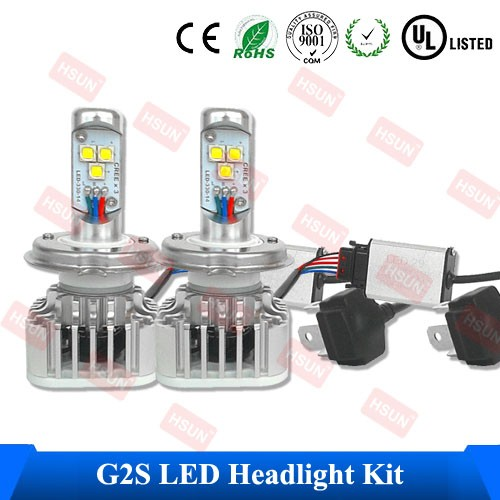 High Quality Auto LED Lamp , External Headlight Kit Of H4 3000LM Light